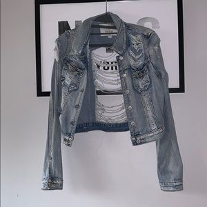light denim ripped jean bracket